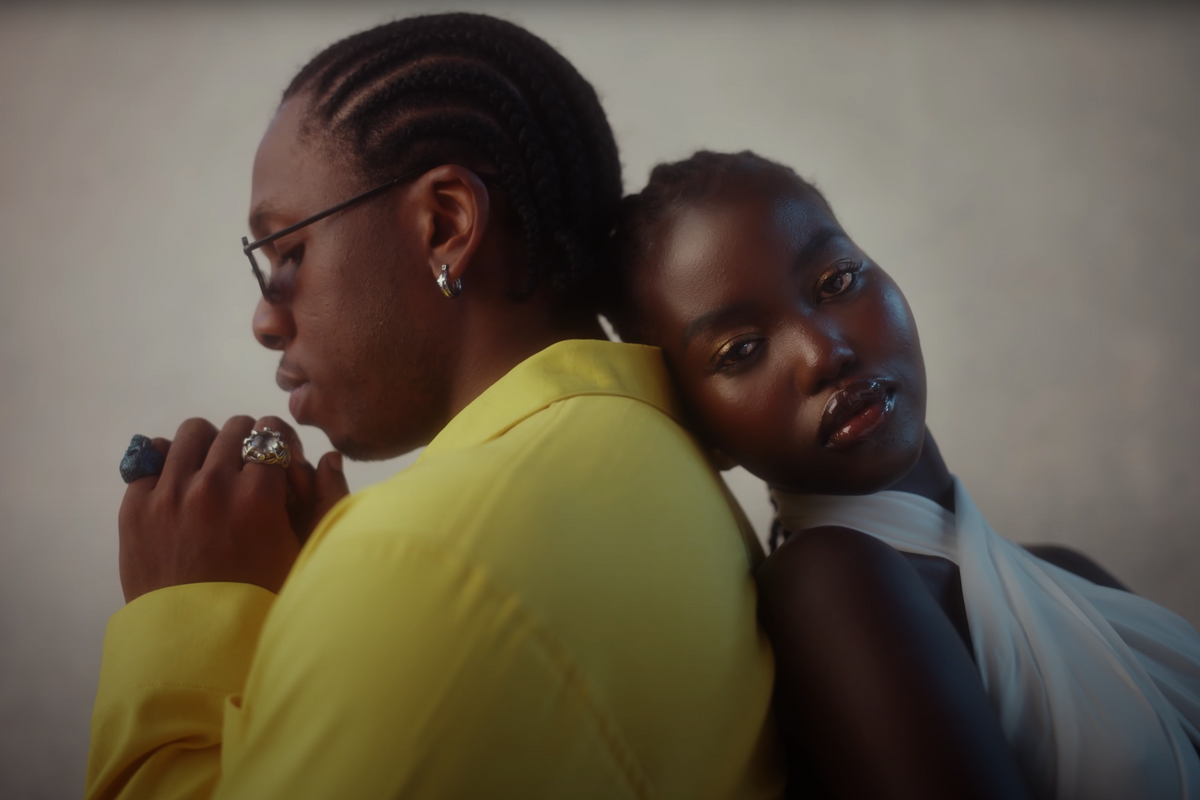 Runtown Flaunts His Love For Model Adut Akech in New Video