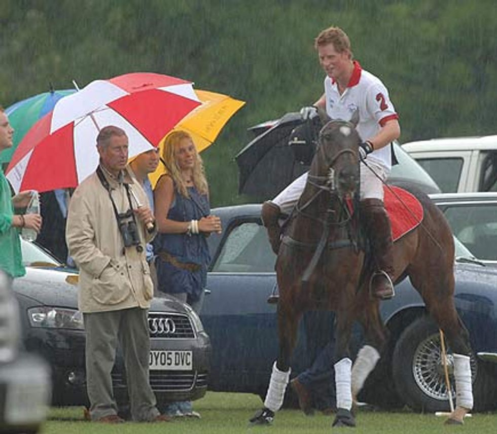 Harry & Chelsy at the Polo Matches