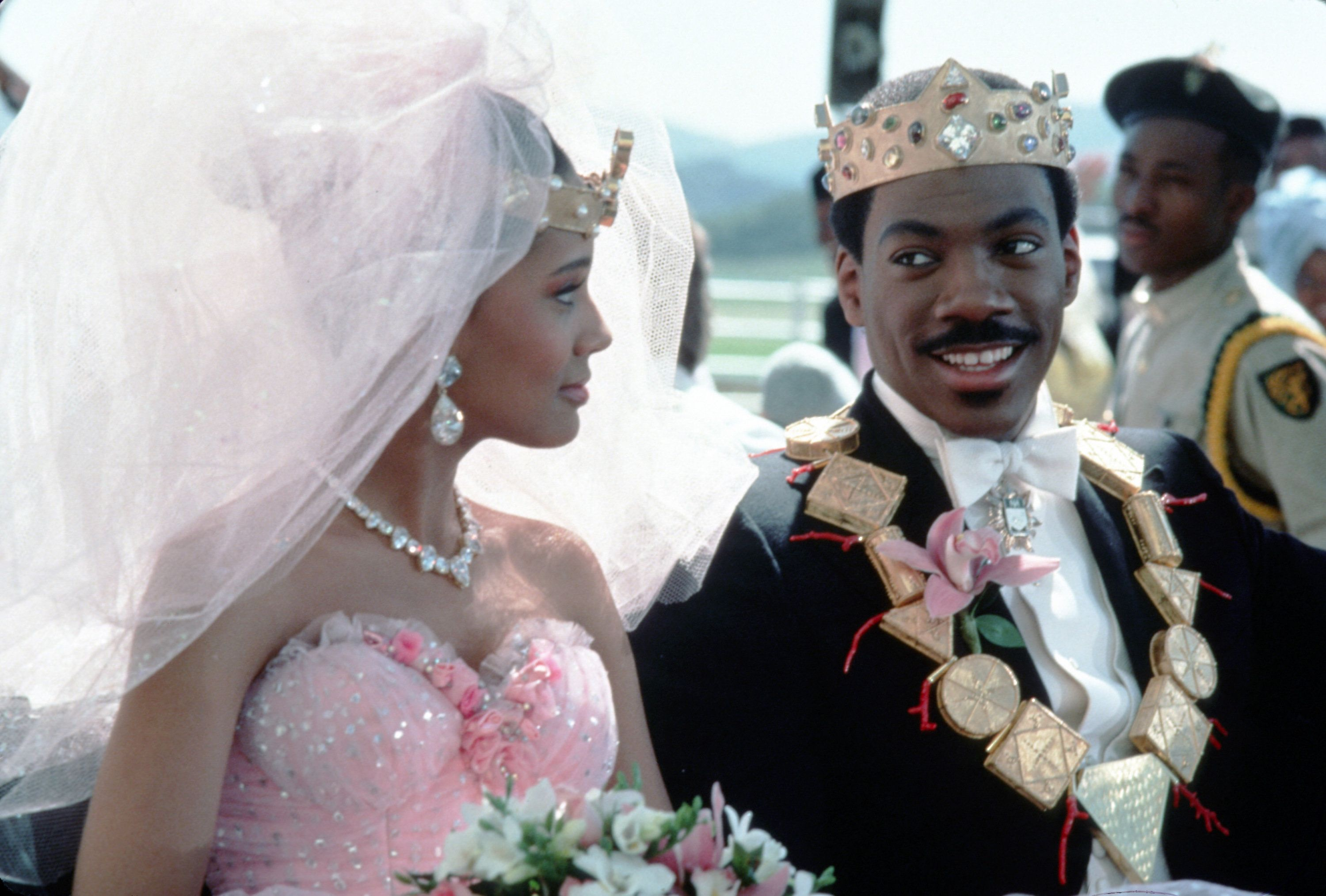 Lisa and Akeem at their wedding ceremony