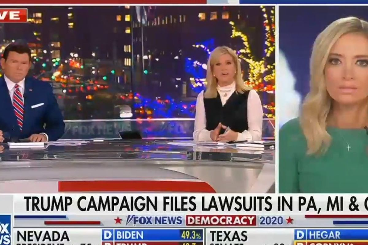 Even Fox News isn't buying Kayleigh McEnany's attempts to claim voter fraud in Pennsylvania