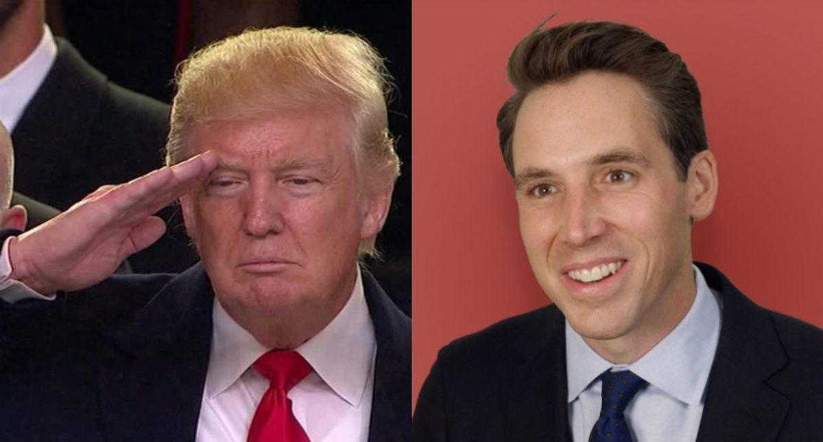 Sen. Josh Hawley is saying 'Black people voting is fraud' with his election overthrow: Tyranny expert