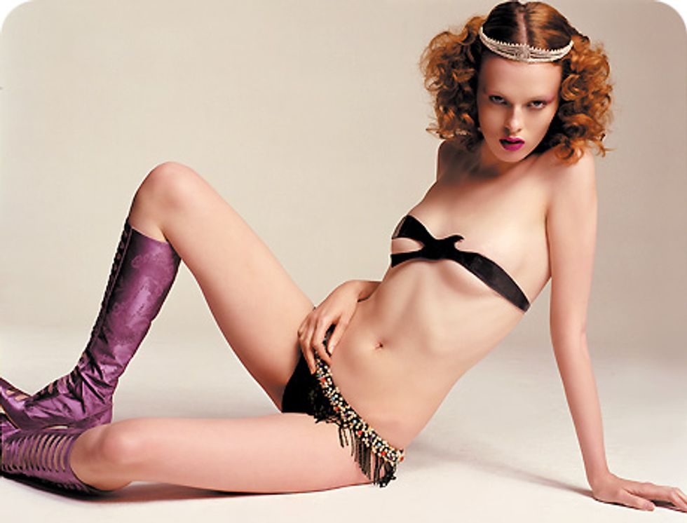 Painting The Town Red With Karen Elson