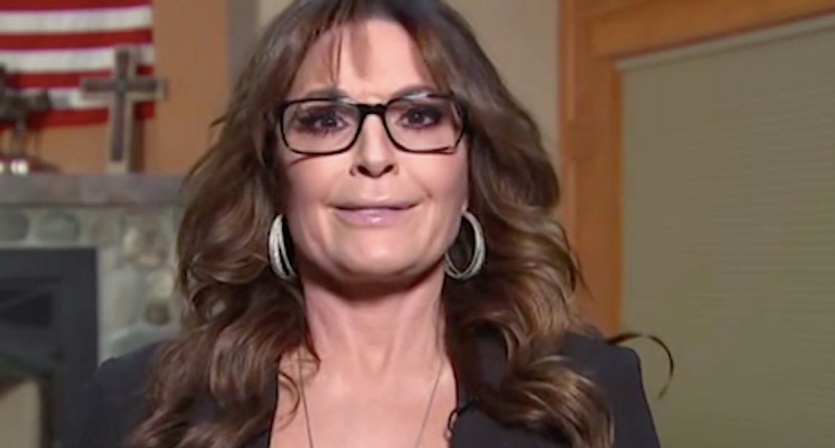 Sarah Palin strangely uses the insurrection to attack the media