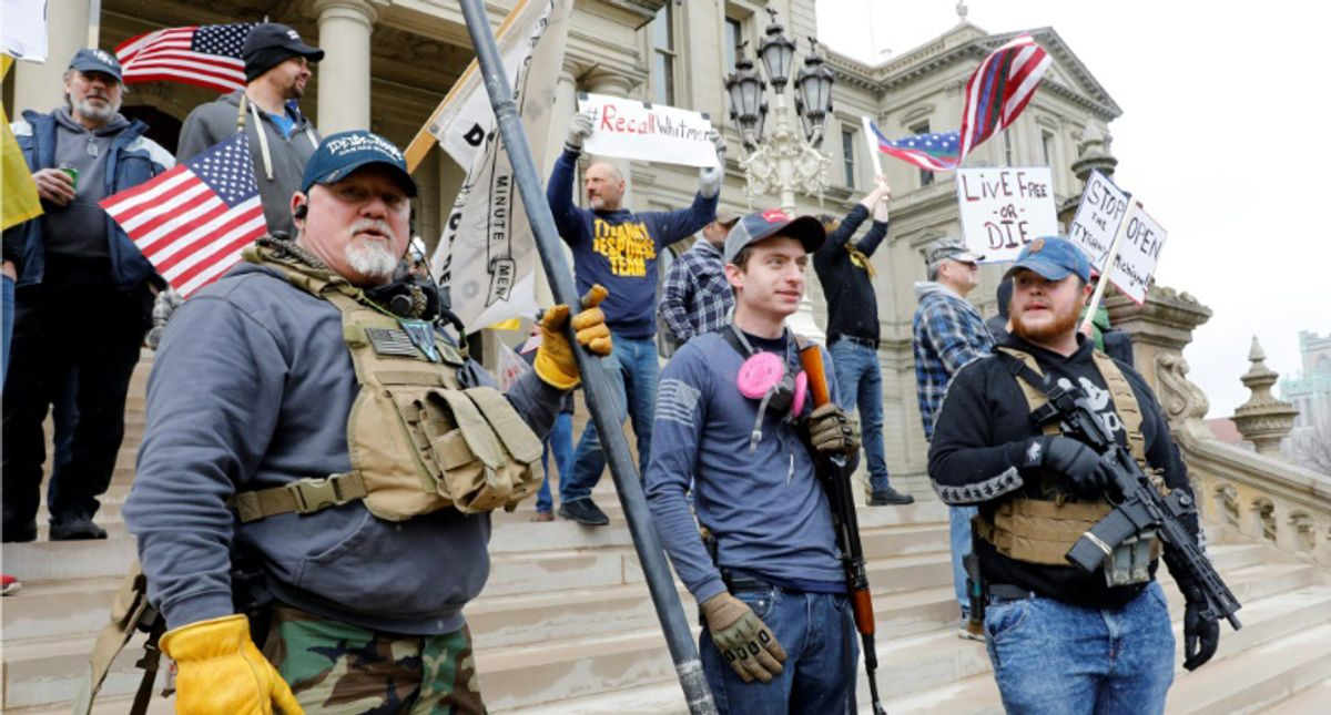 Armed far-right mobs grew emboldened after facing little resistance when they invaded state capitols