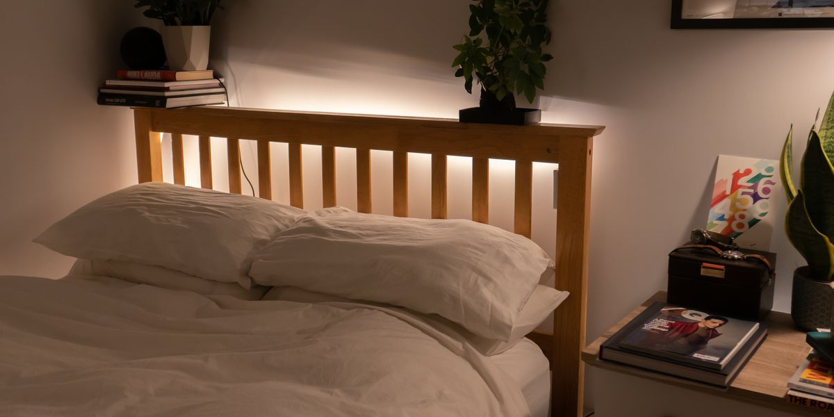How To Fit Hue Smart Lighting To Your Bed Headboard Gearbrain