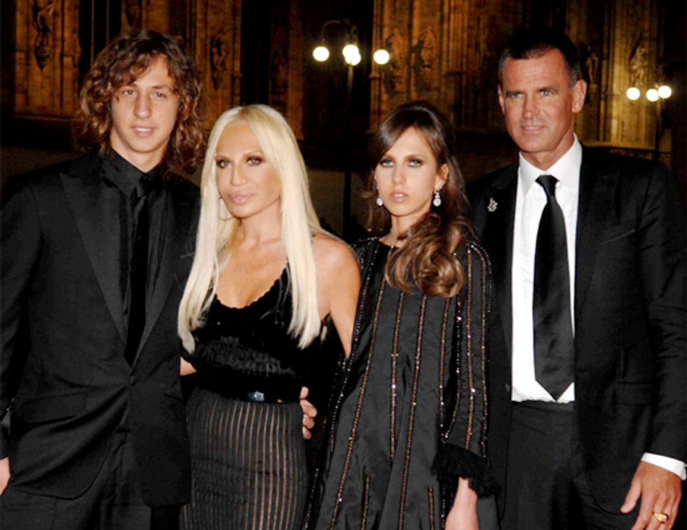 Donatella Versace and Family