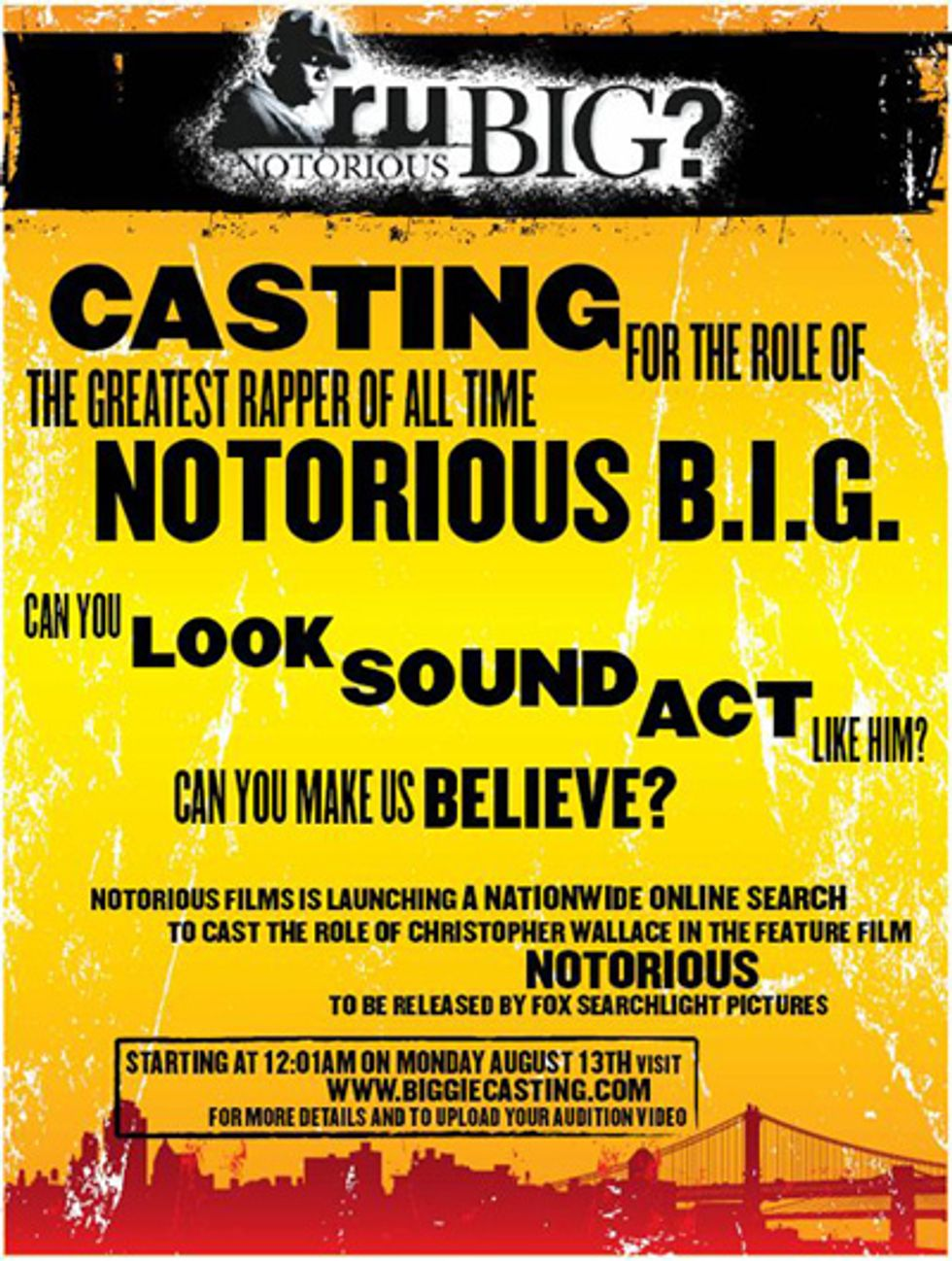Do You Have What it Takes to Be the Next Notorious B.I.G.?