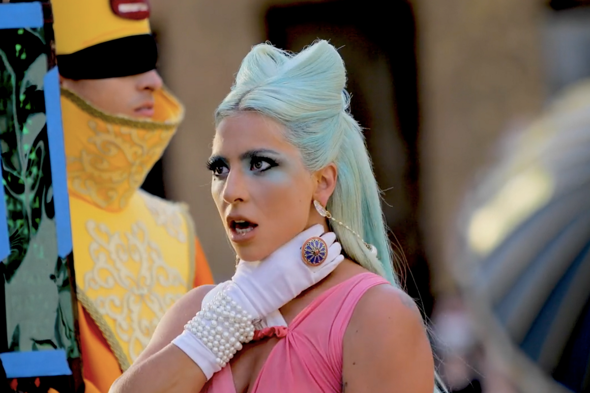 Go Behind the Scenes of Lady Gaga's '911' Music Video