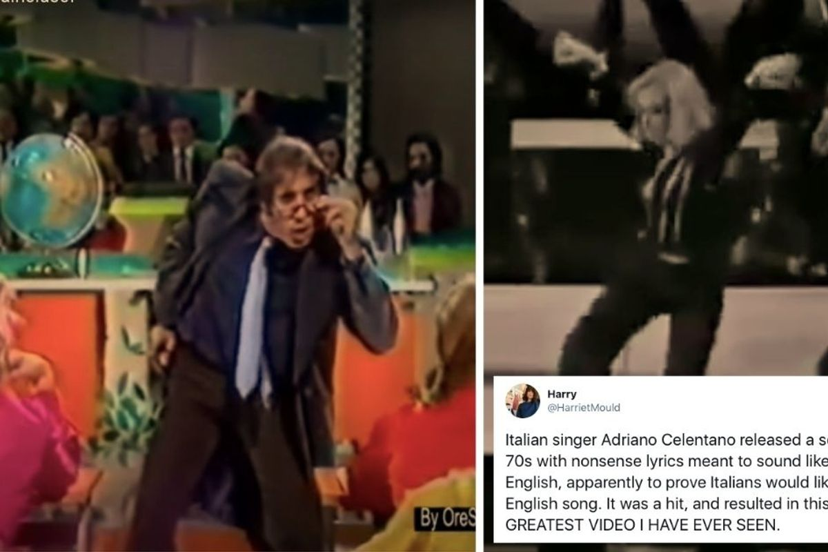 In 1972, an Italian singer wrote a hit song with English-sounding gibberish and it's so trippy