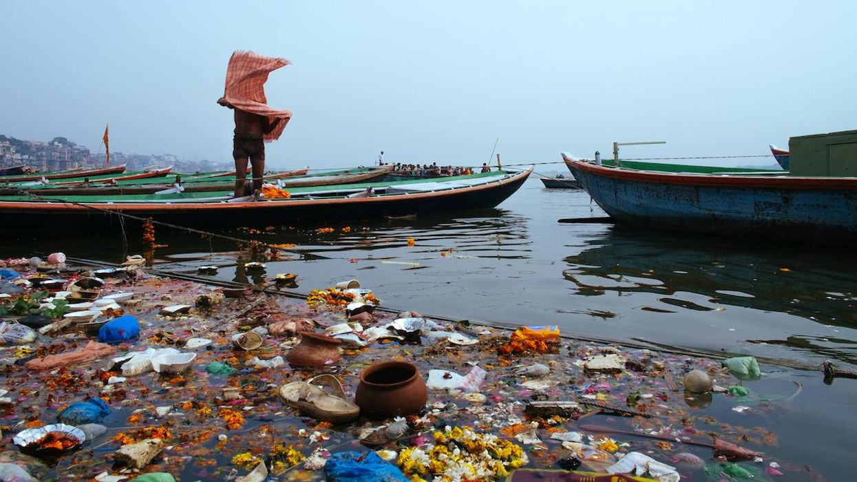 Plastic Fishing Waste Threatens Endangered Wildlife in Ganges River