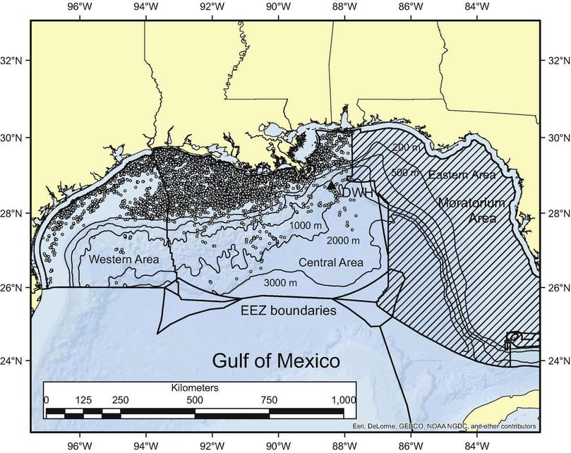 Gulf of Mexico oil and gas drilling