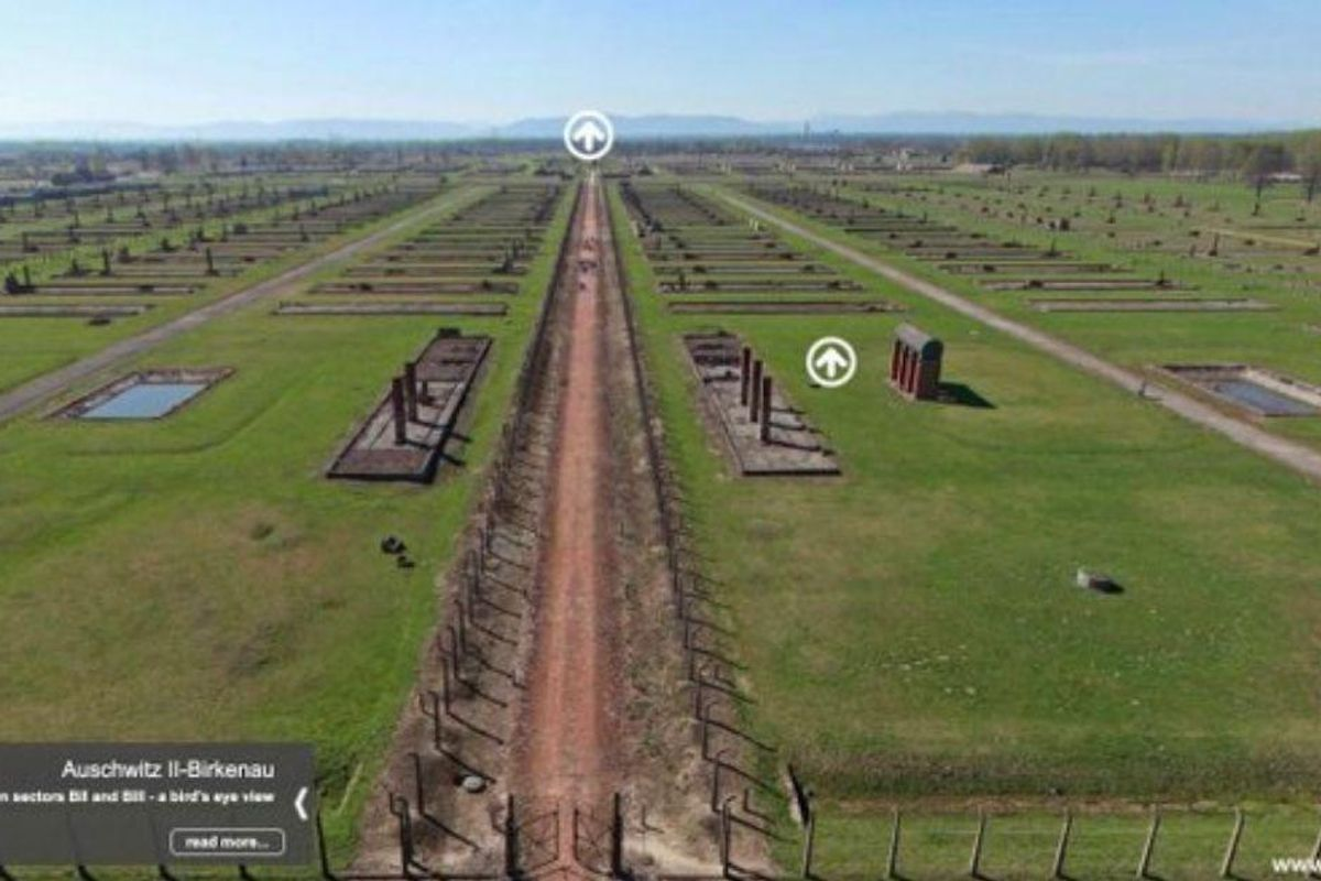 Panoramic 'tour' of Auschwitz helps us see the massiveness of the largest Nazi death camp