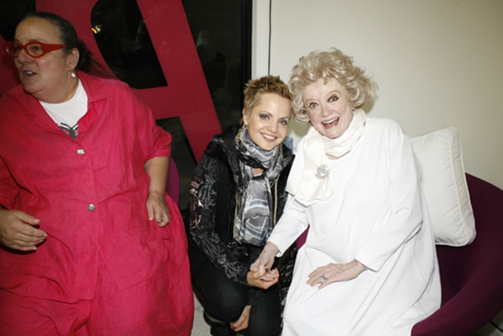 About Last Night... PAPER's Art Opening with Mena Suvari, Phyllis Diller and Henny Garfunkel