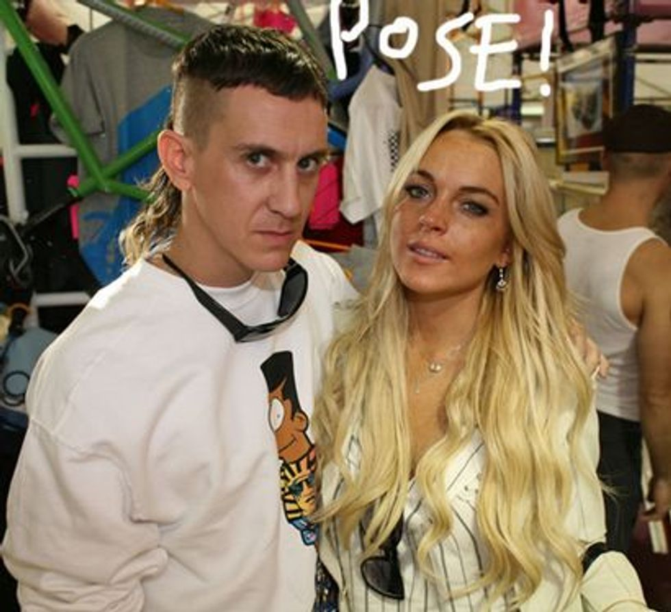 Lindsay Lohan with Pal Jeremy Scott at PAPER's 24-Hour Store