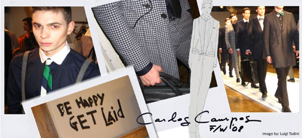 """Luigi Tadini Reports: Carlos Campos Is """"Fit for Saville Row."""""""
