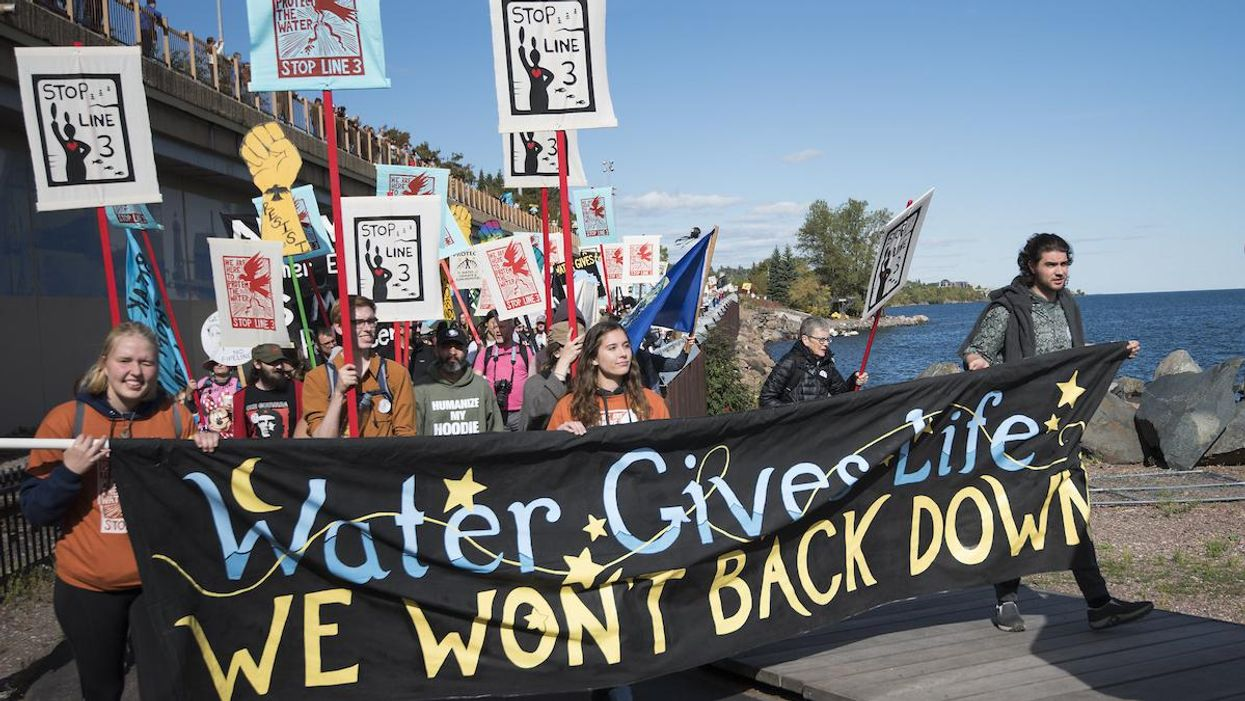 Indigenous-Led Water Protectors Take Direct Action Against Minnesota Tar Sands Pipeline