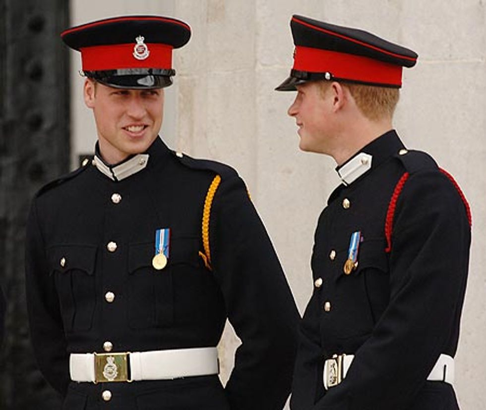 The Wales Boys William and Harry in Uniform