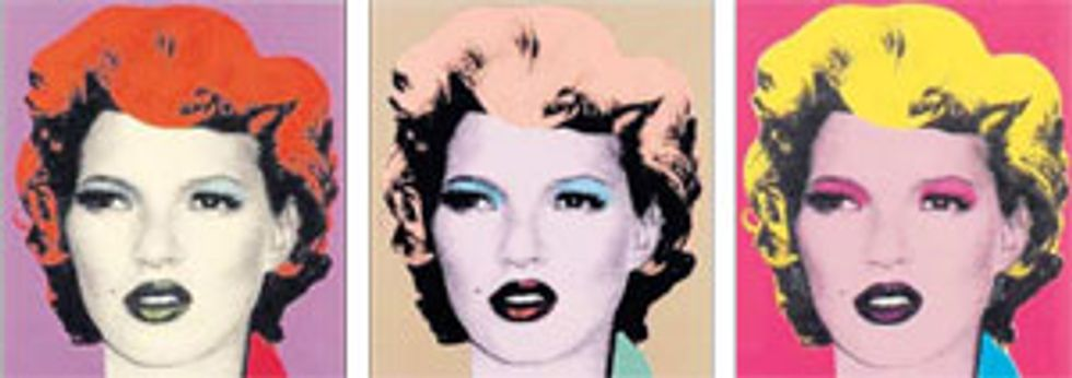 BANKSY GOES BLUECHIP WITH KATE MOSS