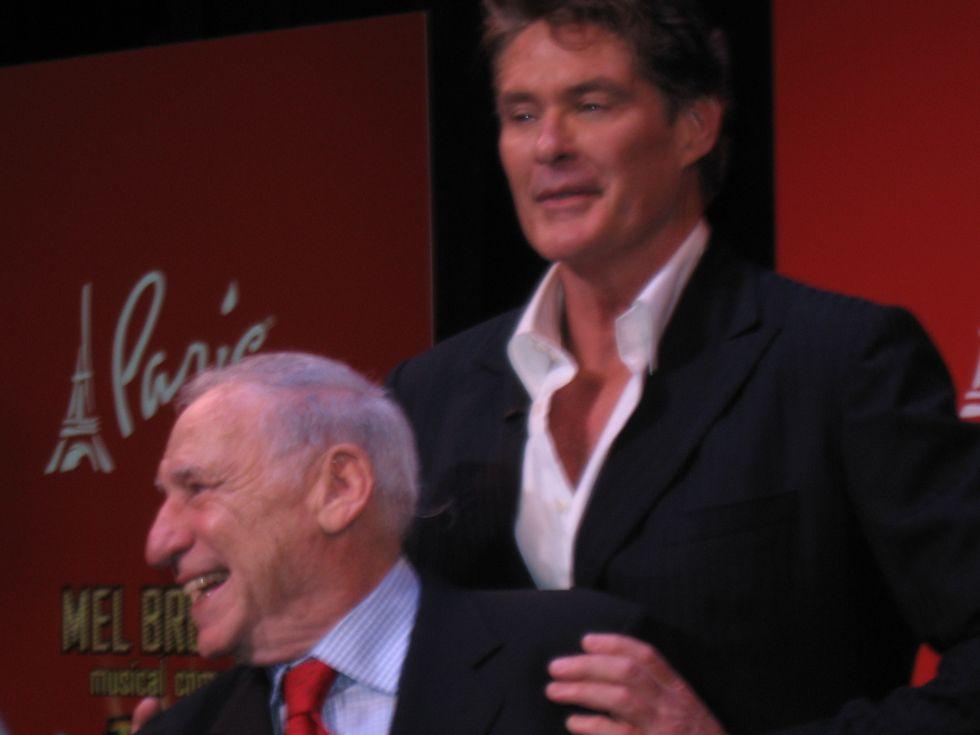 David Hasselhoff & Mel Brooks Do The Vegas Shuffle
