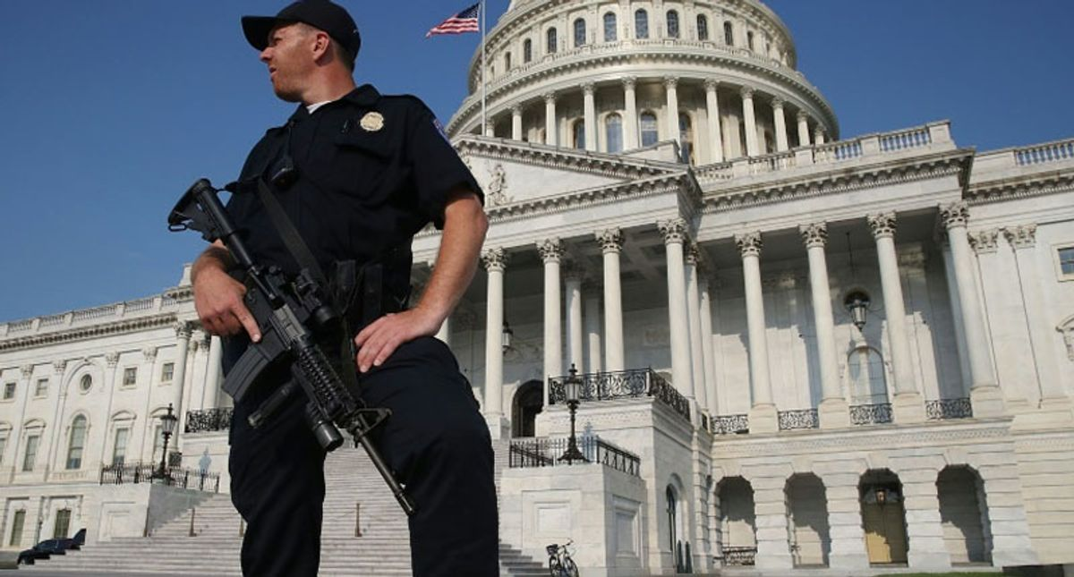Capitol police officer forced to argue with men in his National Guard unit the attack wasn't fake