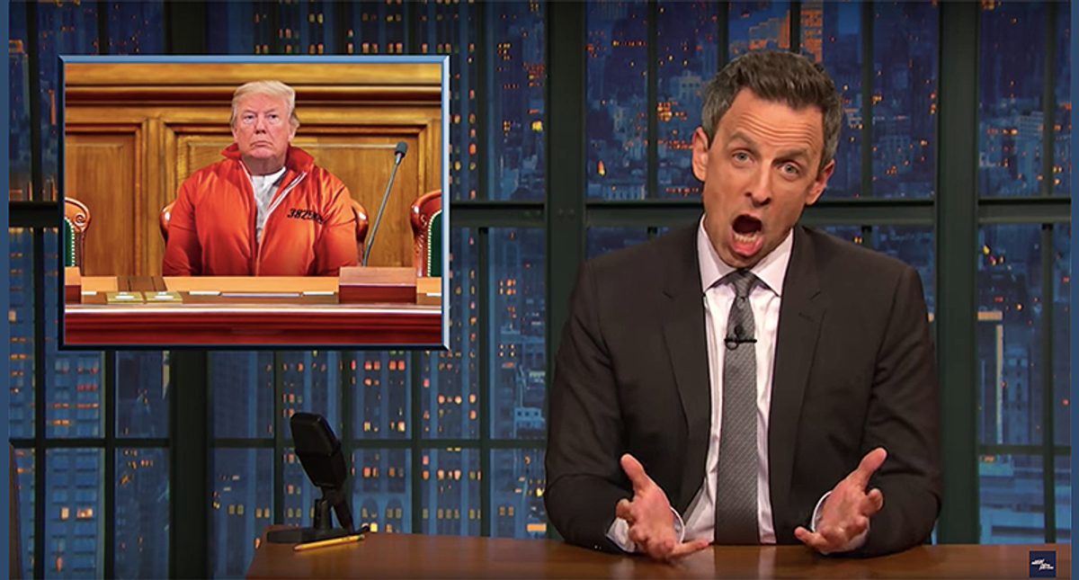 Seth Meyers hilariously mocks GOP for pathetic defense of Trump: 'Every movement has a lunatic fringe'