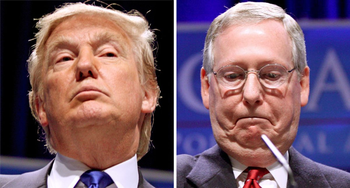 Trump to relaunch fundraising -- so he can try to oust Mitch McConnell: report