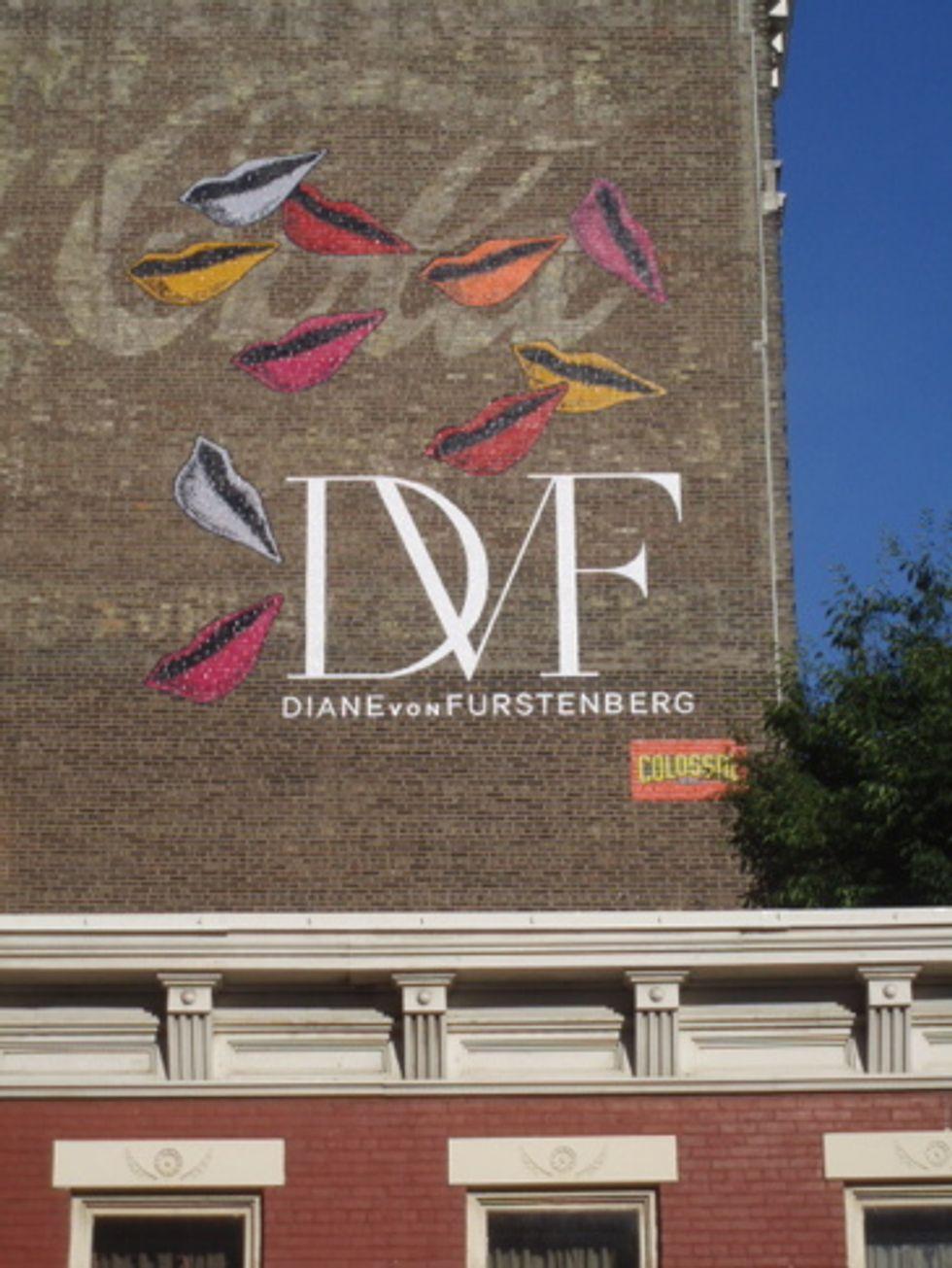 DVF Ad Brightens Up SoHo