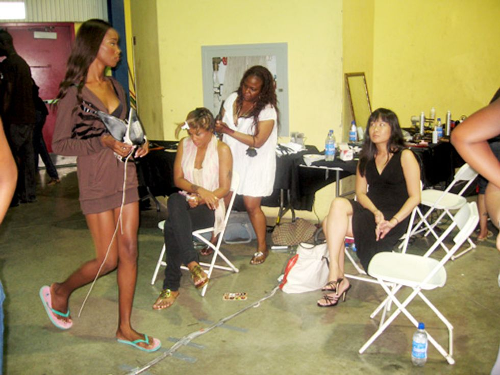 Caribbean Fashion Week: Eve and Nia Long Backstage