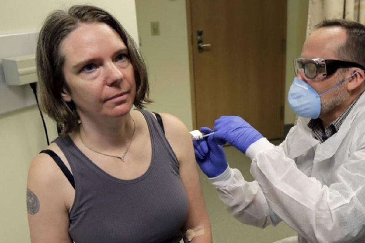 We talked with the first American to get the COVID-19 vaccine and she'll put you at ease