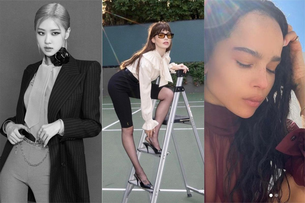 Rosé, Lily Collins and Zoe Kravitz Are the First to Flaunt New Saint Laurent