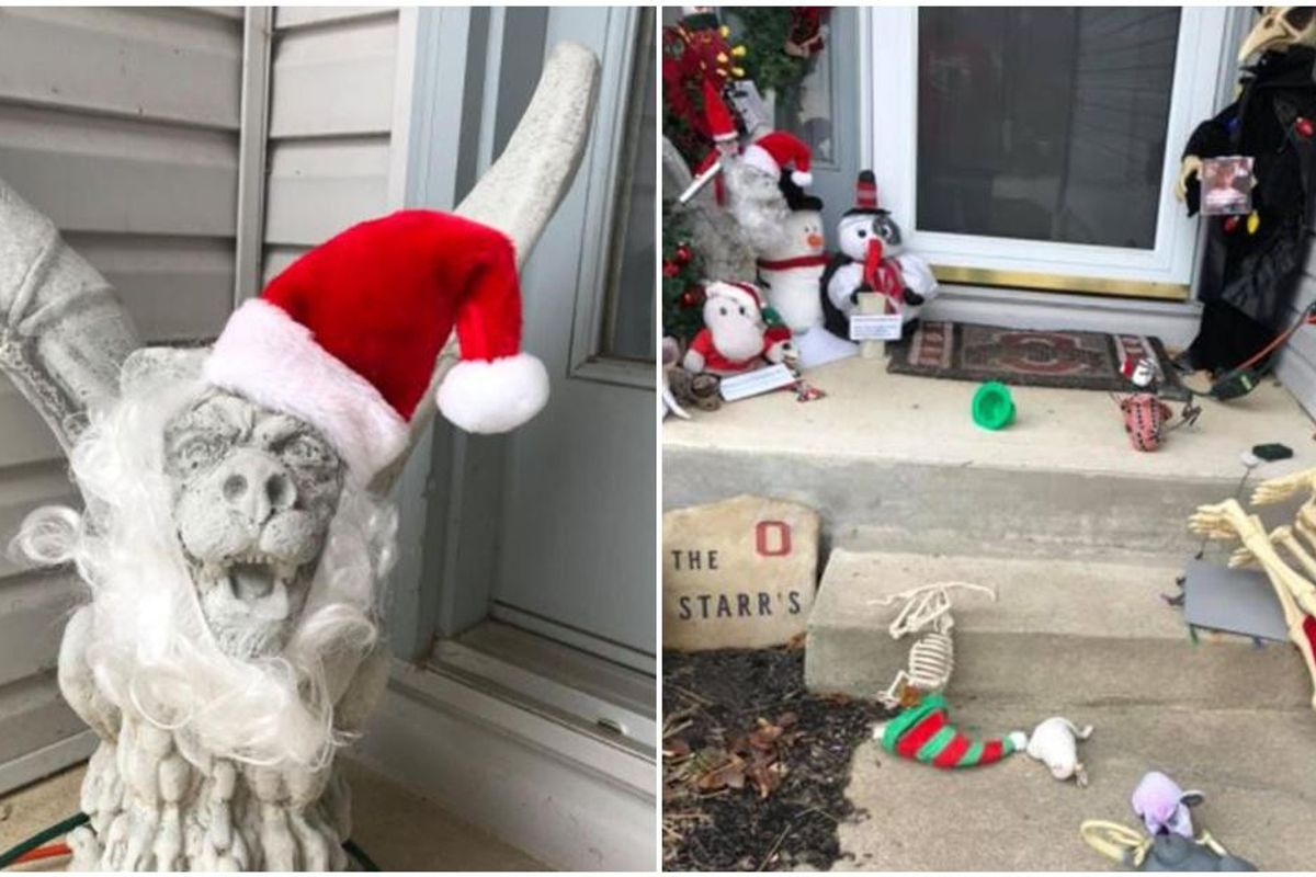 A 'Christmas Gargoyle' sparks an epic decoration war between neighbors.