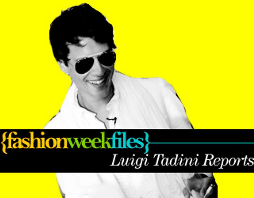 Introducing Fashion Week Guest-Blogger Luigi Tadini