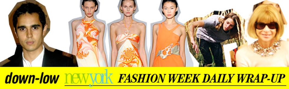 Fashion Week Daily Wrap-Up: Max Minghella, Coley Brown and Anna Wintour