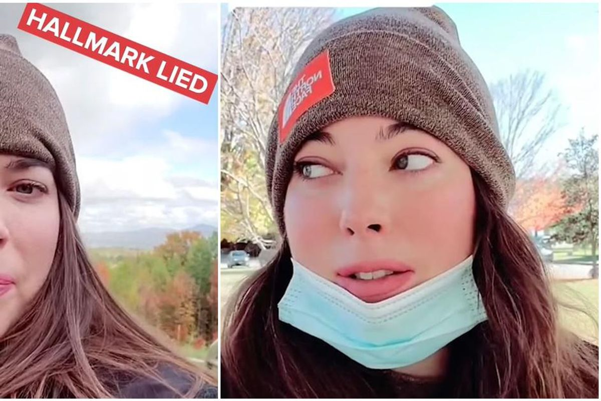 Woman tries to find love like everyone does in Hallmark Christmas movies and fails miserably