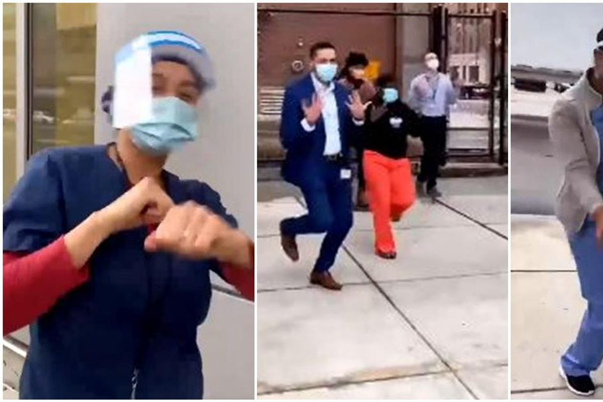 Medical staff in Boston threw a 'Good As Hell' dance party to celebrate the vaccine