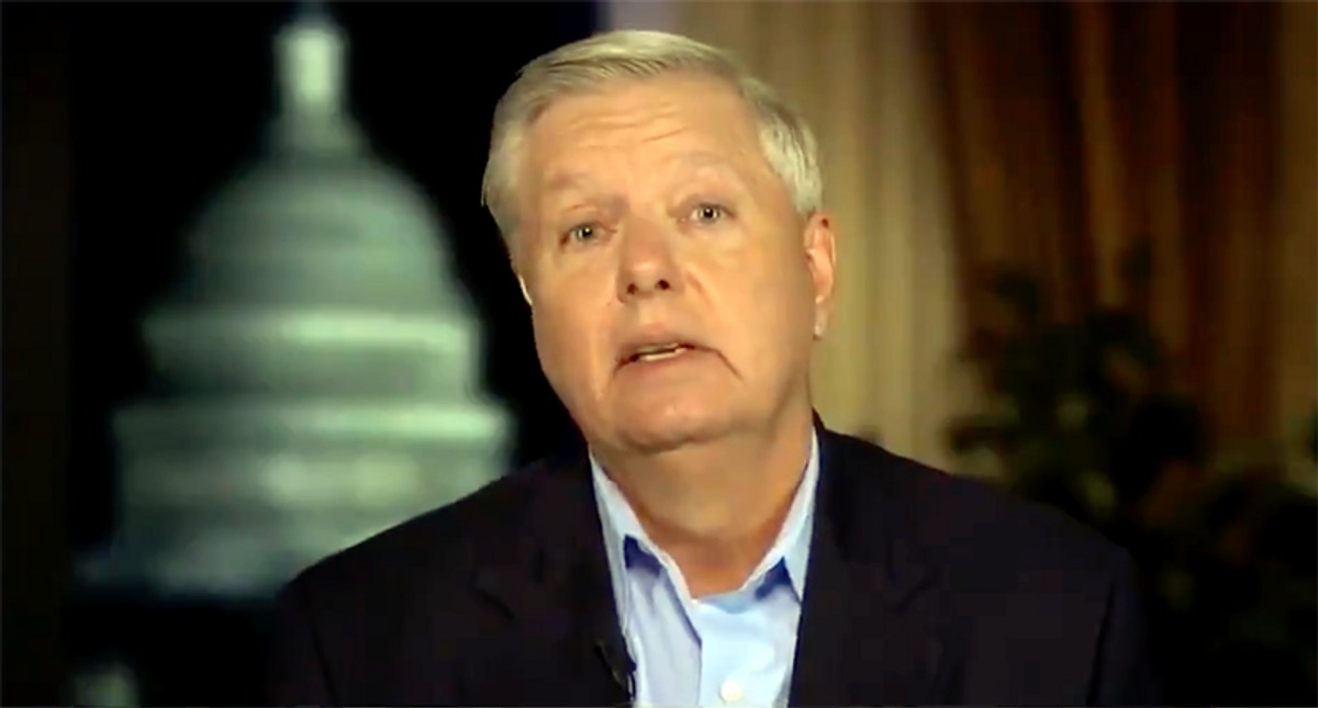 'He's irrelevant': MSNBC panel laughs at 'minority member' Lindsey Graham's whine about Trump impeachment