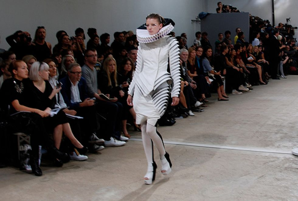 """Gareth Pugh's Collection: """"Mind-Blowingly Moody, Stirringly Sculptural"""""""