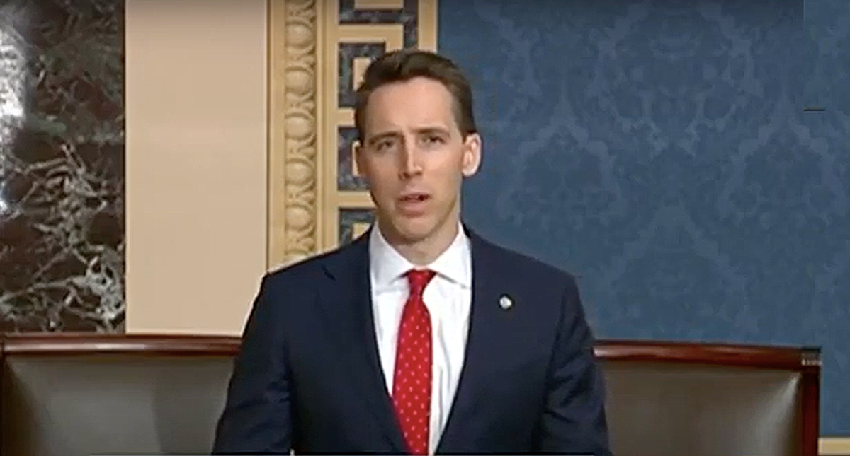 Josh Hawley gets slapped down hard by Antonin Scalia's son for whining about his lost book deal