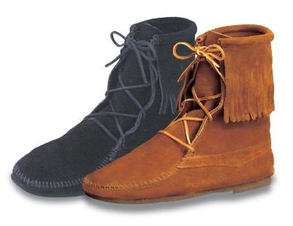 Last of the Mohicans Chic?  All Hail Minnetonka Men's Moccasins