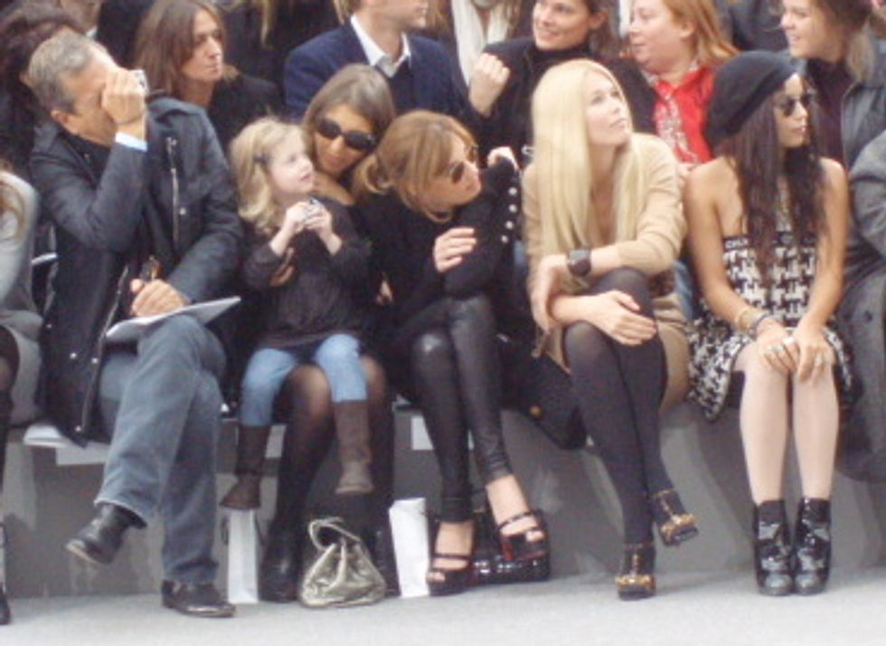 Cute Front Row at Chanel