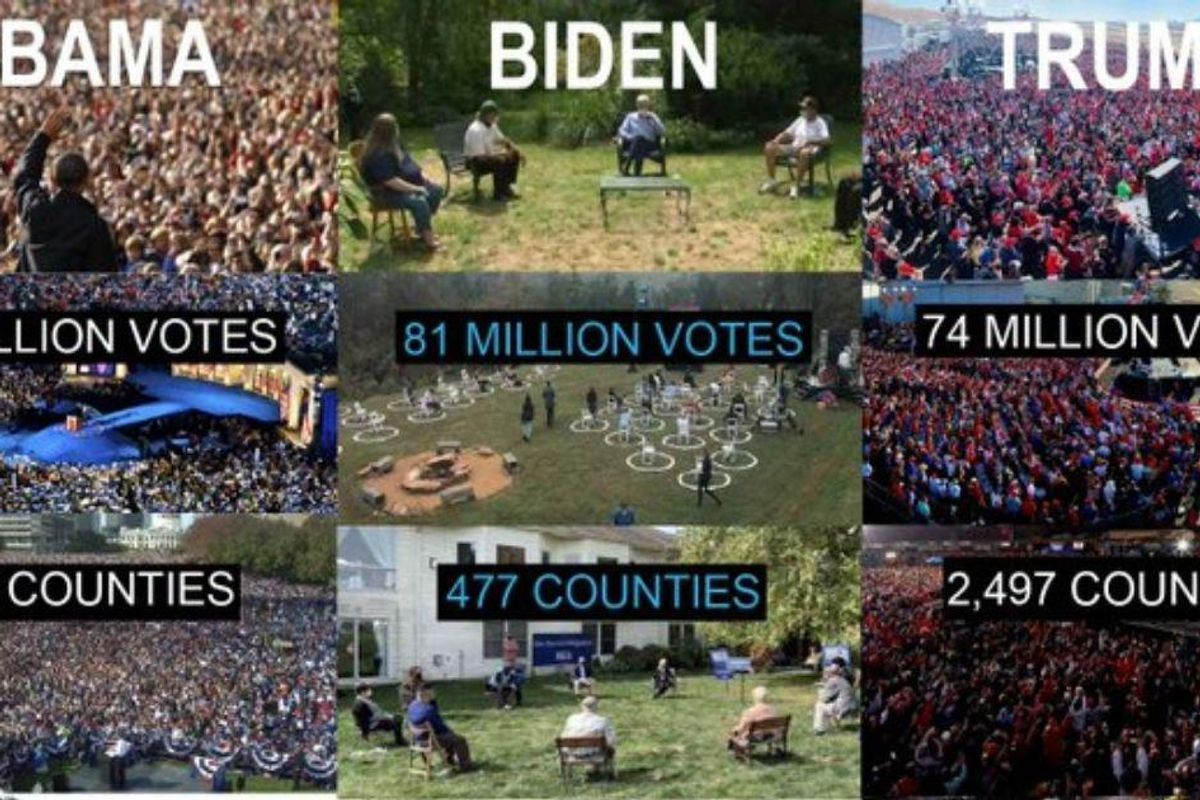 Yes, Biden won with only 16% of U.S. counties. No, that's not mathematically impossible.