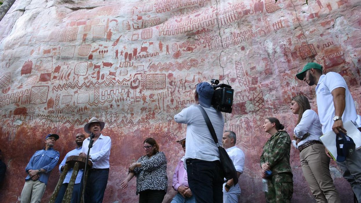 Spectacular Ice Age Rock Paintings Found in Colombian Rainforest