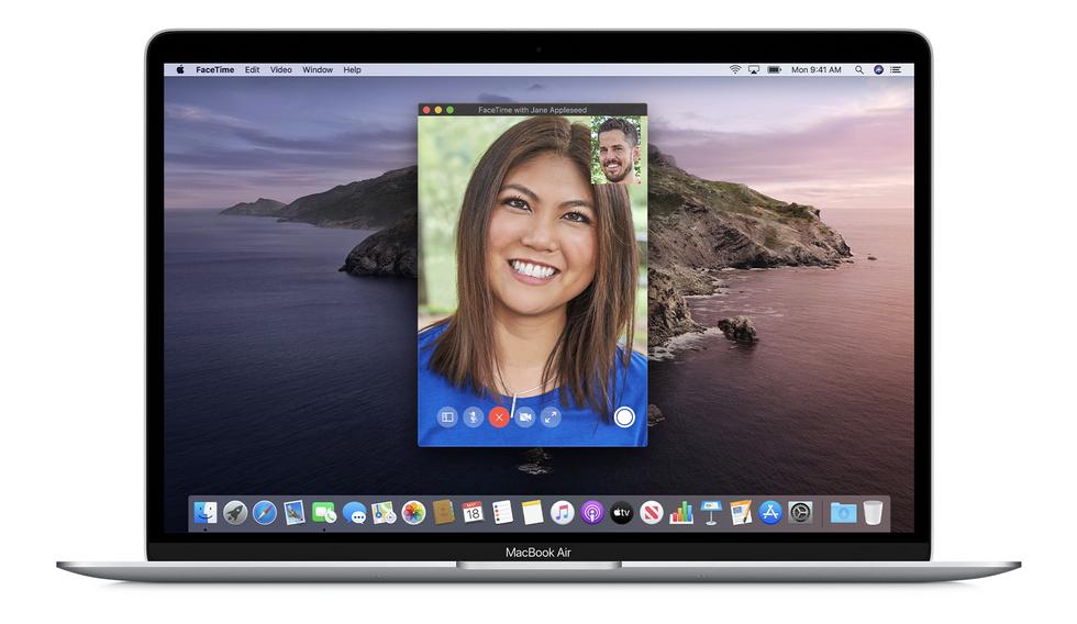 MacBook Air running FaceTime