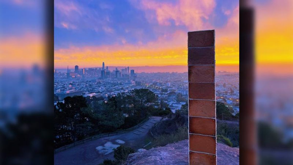 Gingerbread monolith appears in San Francisco