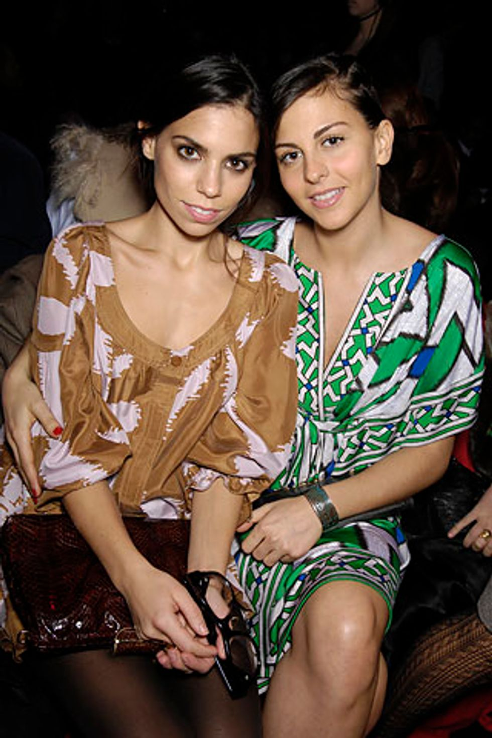 Cute Couples of Fashion Week: Ally Hilfiger and Nina Clemente at DVF