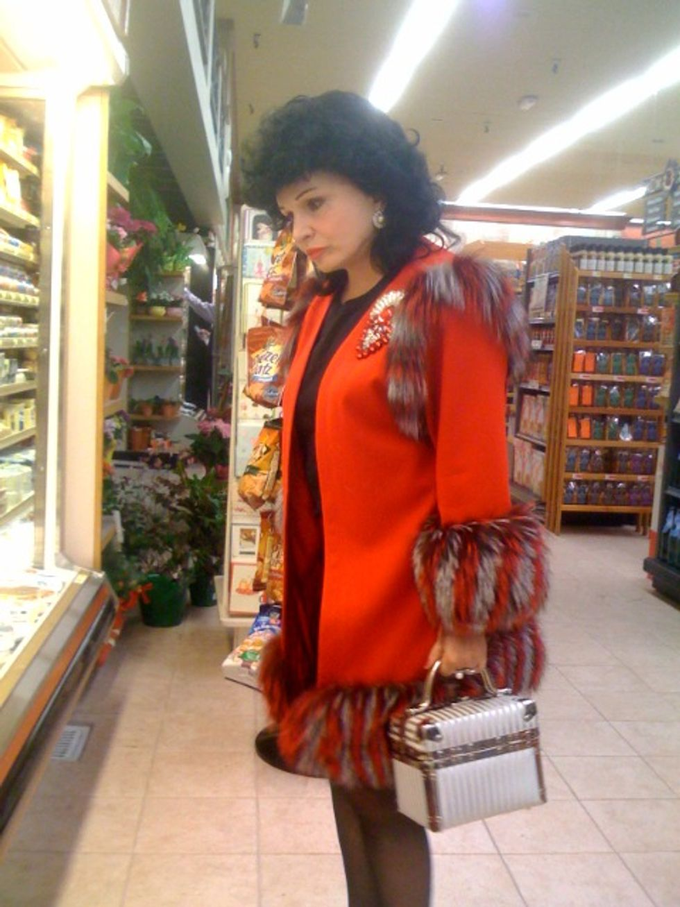 Afternoon Style in an L.A. Supermarket