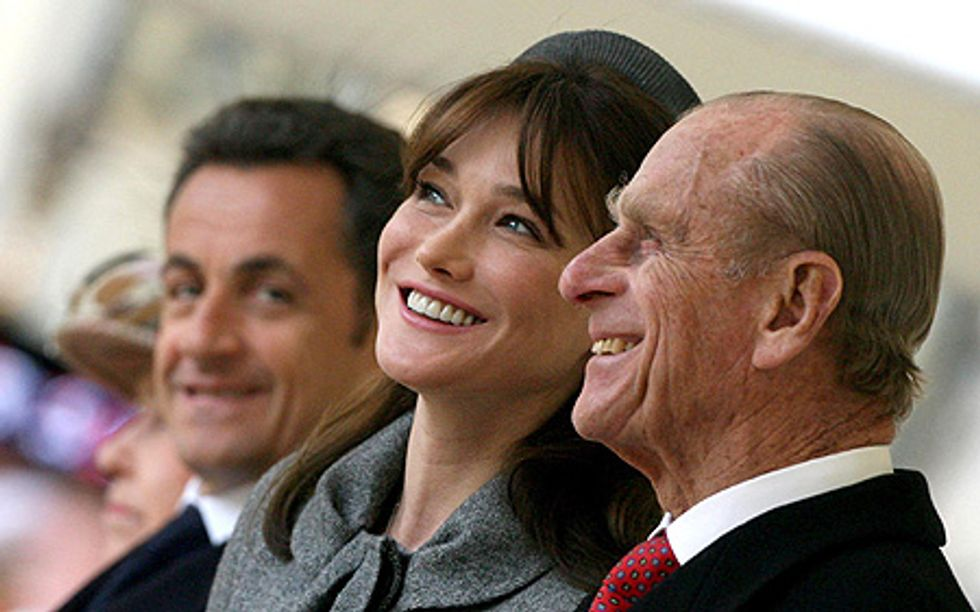 Did Sexy Carla Bruni's Visit Put the Duke of Edinburgh in the Hospital?