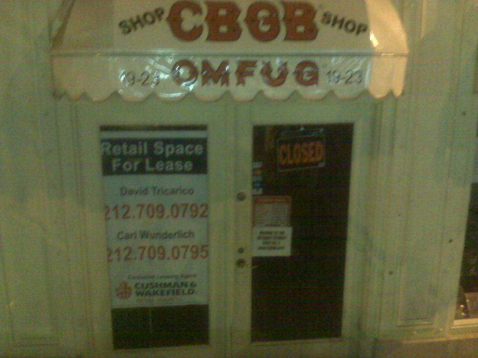 CBGB's Out of Business Again