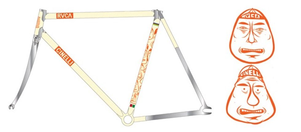 Cinelli + RVCA = Some Amazing and Collectible Bicycles