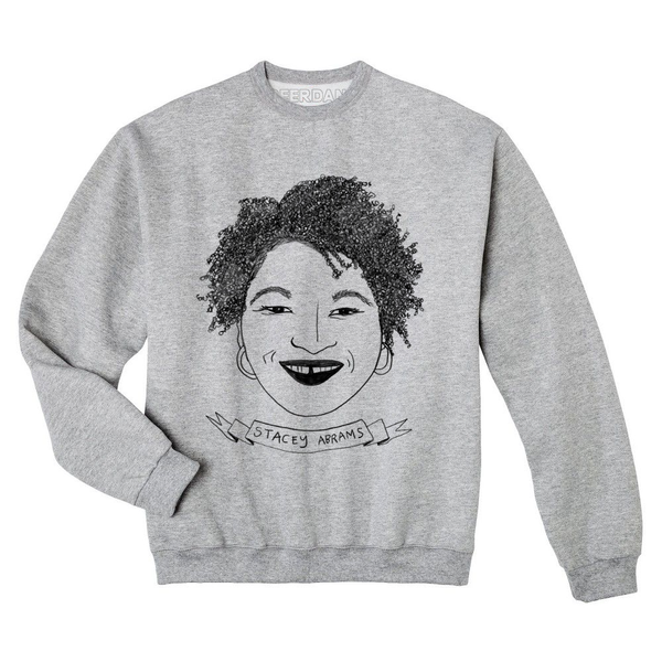 These Hand-Drawn Stacey Abrams T-Shirts Support Voter Turnout in Georgia